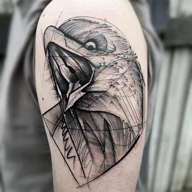 Beautiful Sketch Style Tattoos Photos