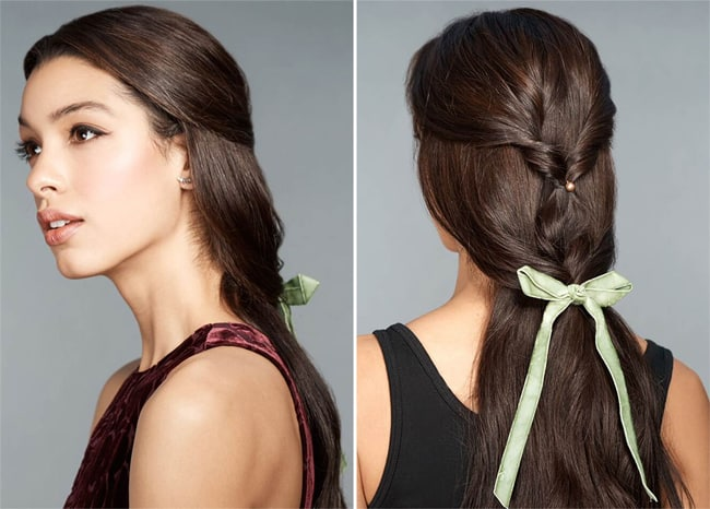 Best Christmas Tied With A Bow Hairstyles Images