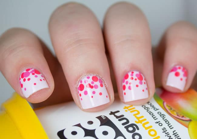 Bridal Polka Dots Nail Design for Short Nails