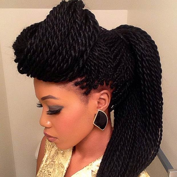 Cool Twists Ponytail Hairstyles for Black Women