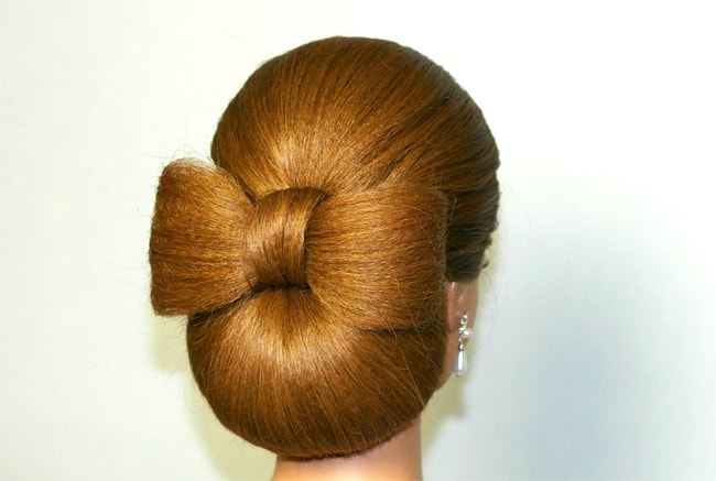 Cool Women Hair Bow Hairstyle for Long Hair
