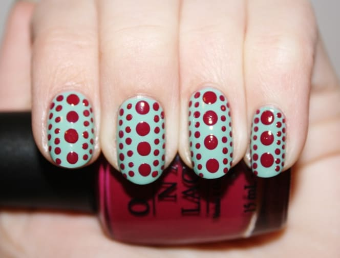 Cute Polka Dot Nail Designs for Long Nails
