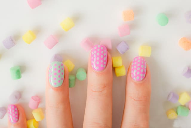Cute Polka Dot Nails Art Designs for Party
