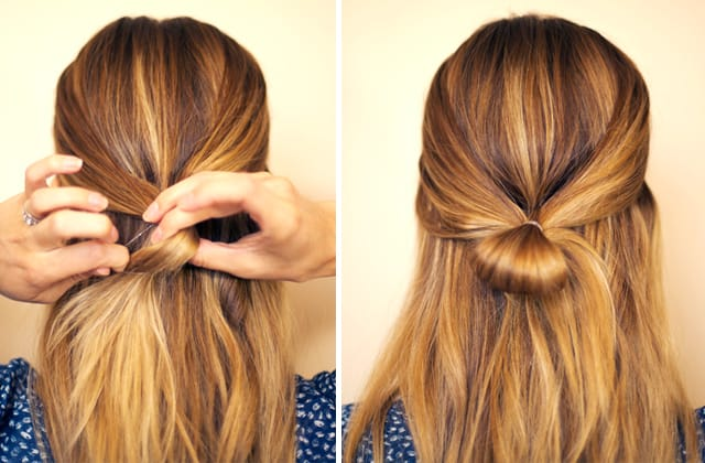 Elegant Half Ponytail Bow Haircuts Pictures