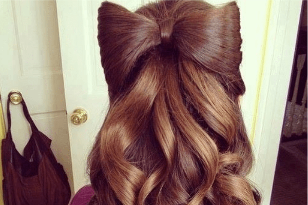 Fantastic Hair Bow Hairstyle for Brown Hair