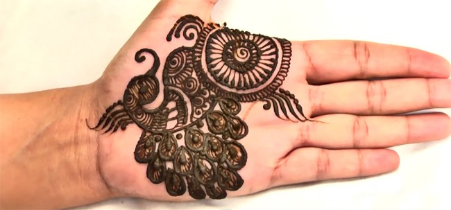 Floral and Peacock Punjabi Mehndi Designs 2016-17