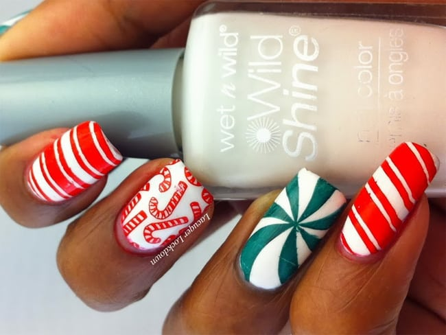 Fresh Holiday Inspired Nail Designs for Long Nails