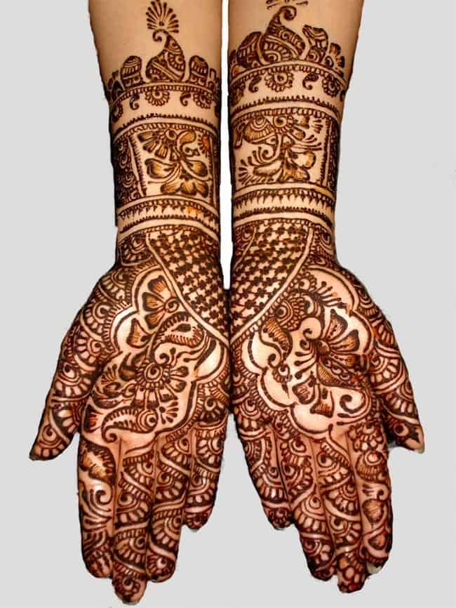 Full Hands Punjabi Wedding Mehndi Design Pictures