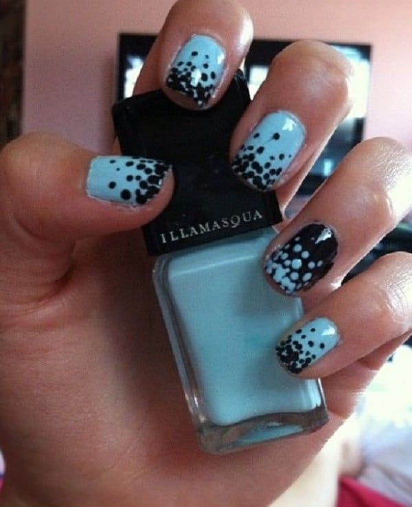 35 Inspirational Polka Dot Nail Art Designs