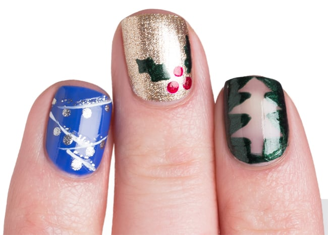 Good Twinkle Lights and Christmas Tree Nail Art