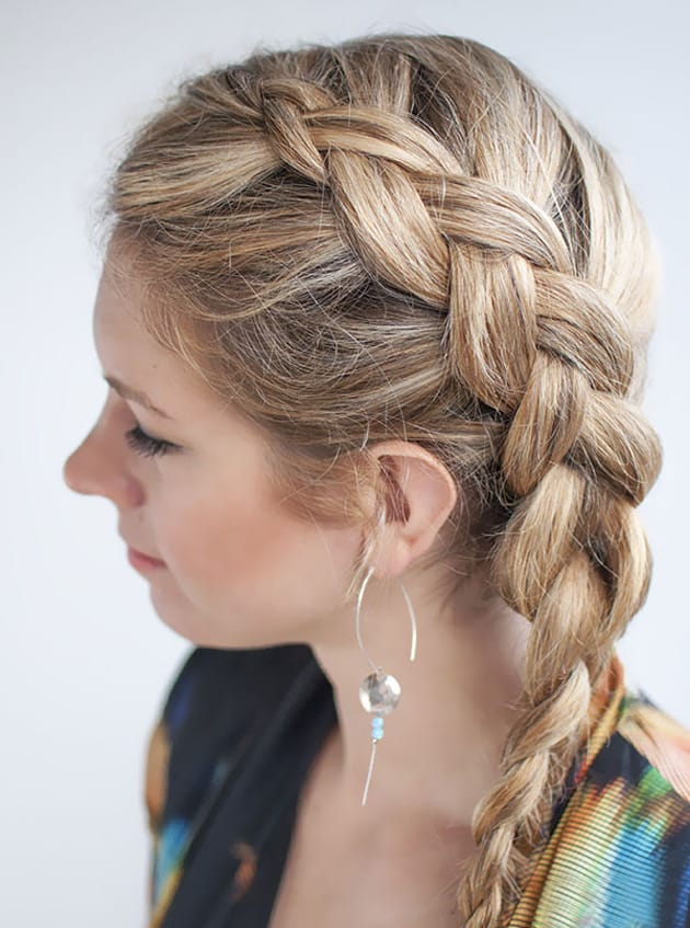 Great Side Dutch Braids Hairstyles for Girls