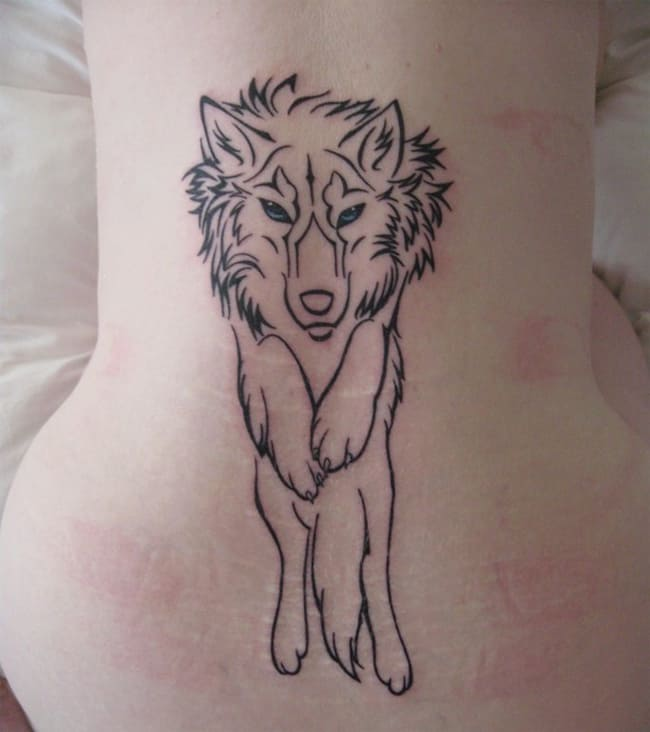 Great Tribal Wolf Tattoos Ideas for Women