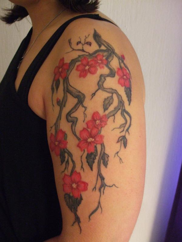 Pretty Cherry Tree Tattoo on Armband 2016