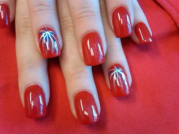 Fireworks Nail Art Designs