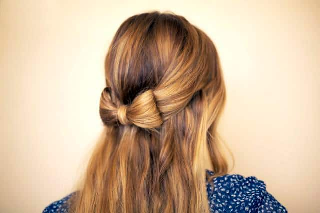 Simple Step by Step Hair Bow Hairstyle Ideas