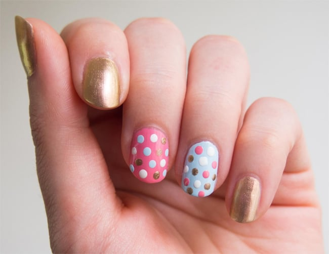 Stunning Easy Polka Dot Nail Design Ideas