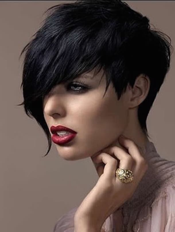 Stylish Black Short Funky Hairstyles for 2016-17