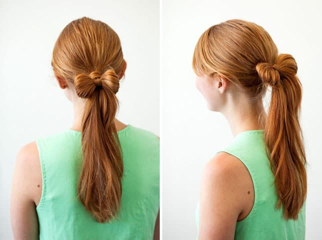 Stylish Ponytail With A Hair Bow for Teen Girls