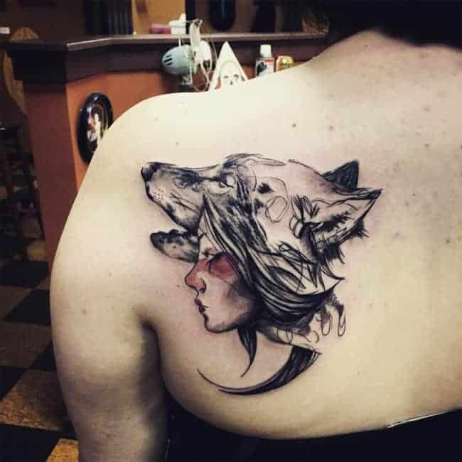 Cool Wedding Guest Book Ideas: 17 Cool Wolf Tribal Tattoos For Women