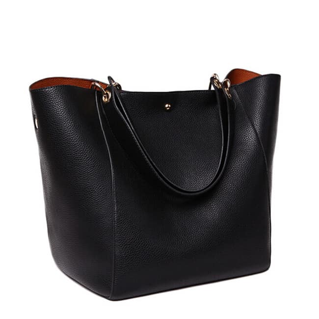 Super Solid Designer Black Handbags for Winter