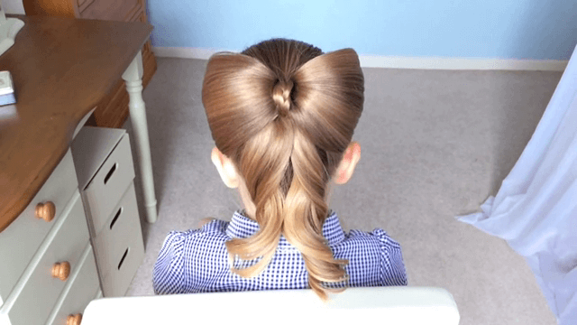 Superlative Bow Hairstyles For Little Girls