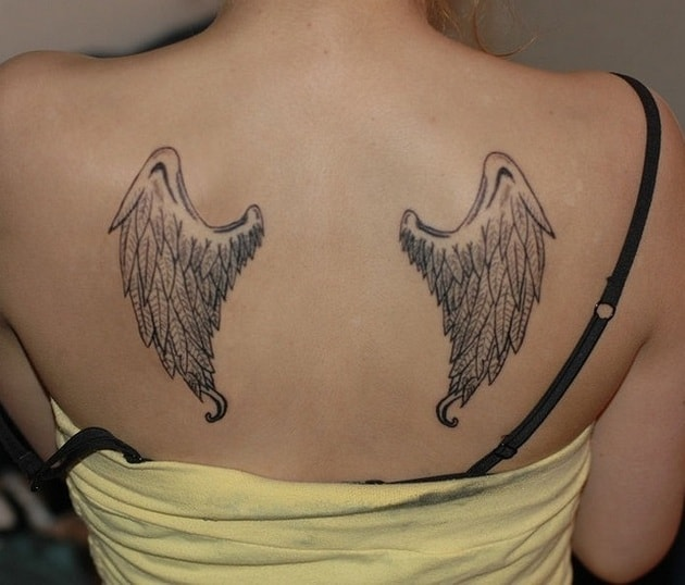 Amazing Angel Wing Tattoo Trend for Back