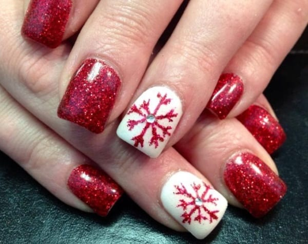 Amazing White and Maroon Nail Designs for Valentines Day