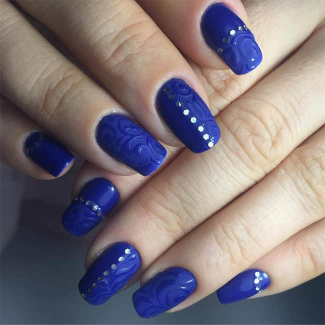 Awesome Blue Nail Designs for Long Nails