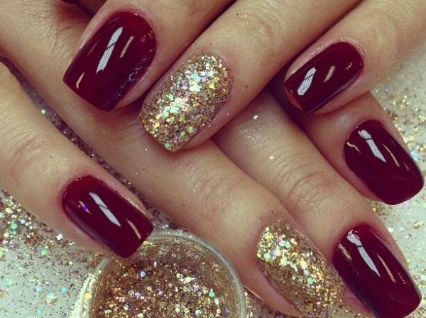 Awesome Holiday Maroon Nail Art Designs 2016