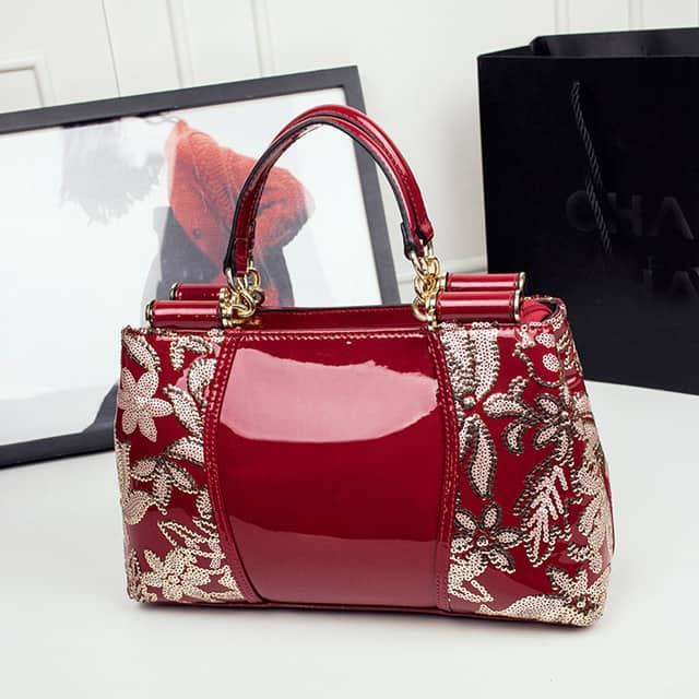 Beautiful Bridal Crossbody Red Handbags for Wedding