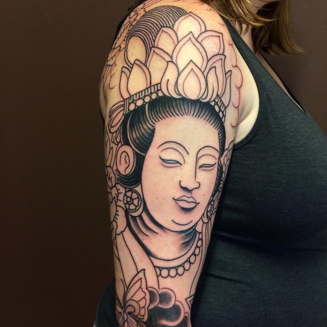 Beautiful Buddha Tattoo Designs for Ladies
