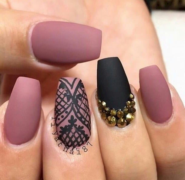 Captivating Girls Matte Nail Design Collection - 20 Astonishing Matte Nail Designs That You Will Love – SheIdeas