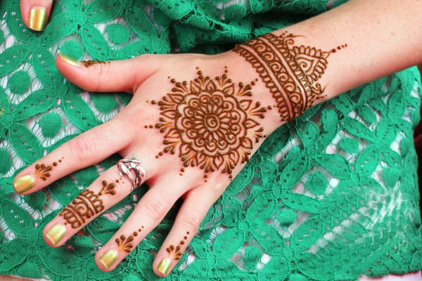 Cool Hand and Cuff Mehndi Design Pictures