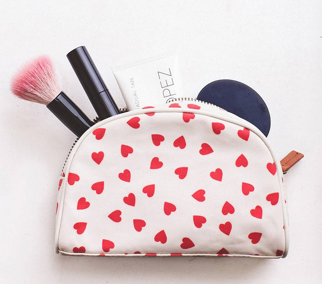 Cool Hearts Inspired Makeup Bag for Girls