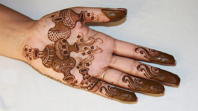 Cool Matka Inspired Mehndi Designs for Women