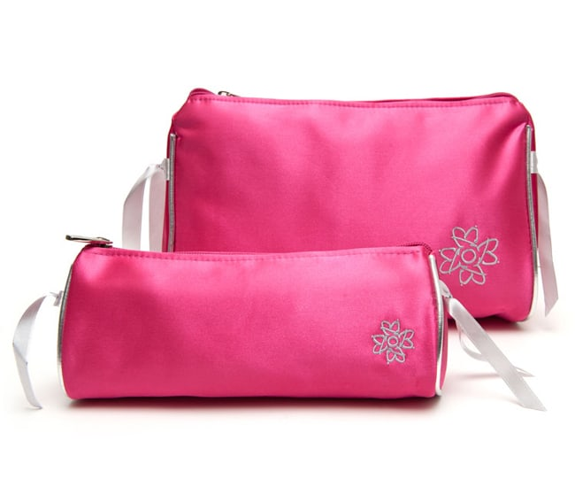 Cute Pink Travel Makeup Bag for Brides
