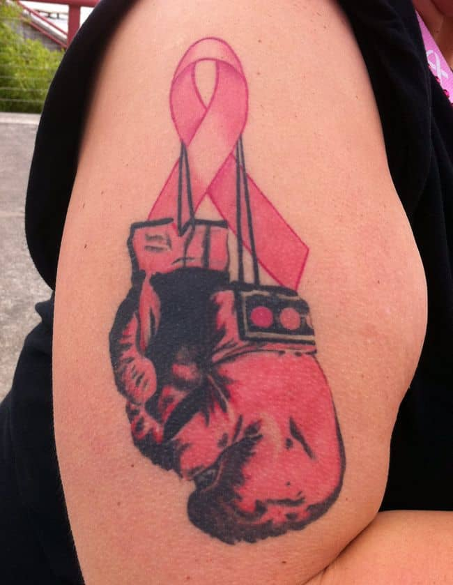 Elegant Rip Fighter Breast Cancer Tattoo Designs