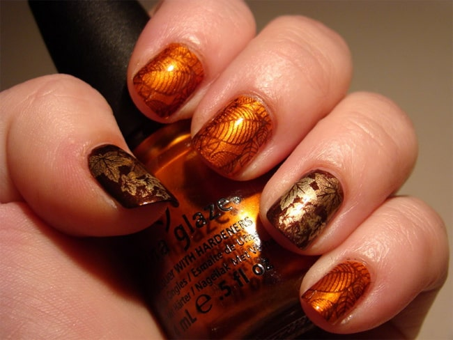 Elegant Winter Fall Nails Designs for New Year