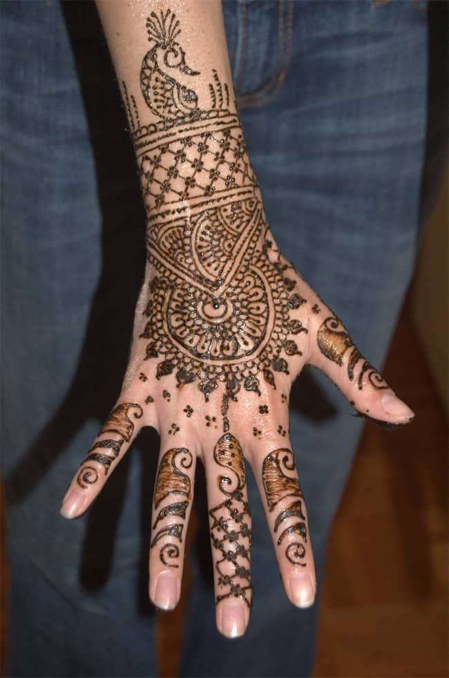 Full Hands and Cuff Henna Ideas for New Year