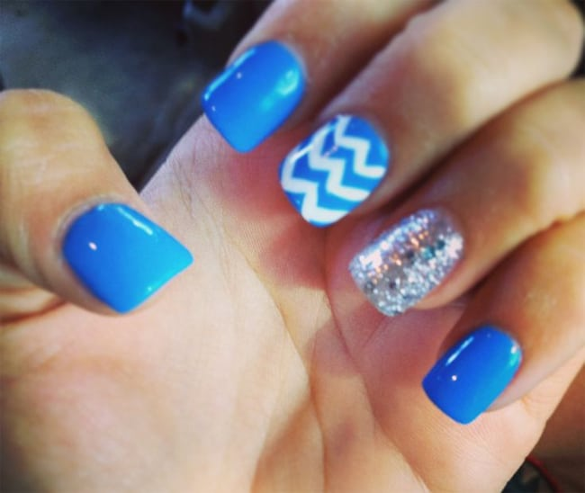 Good Light Blue Nail Art Ideas for Girls