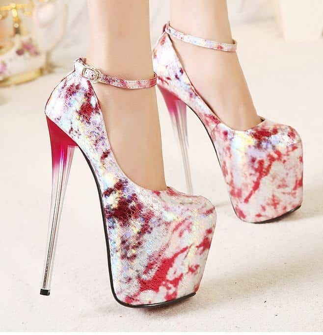 Gorgeous Painting High Heels Bridal Shoes 2016