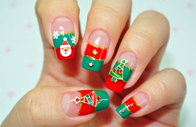 Heart Stopping Christmas Gel Nails Polish Ideas