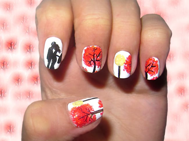 Heart Touching Dreamy Fall Nail Art for Winter