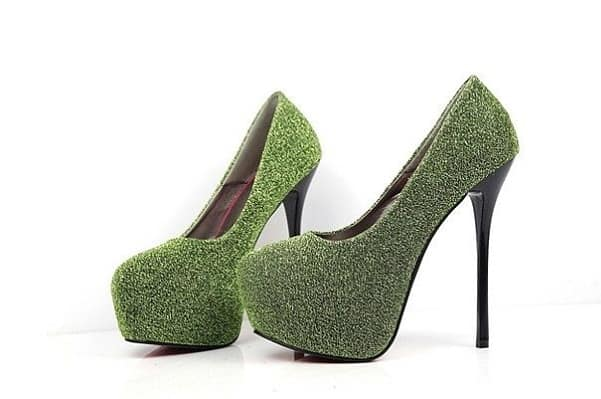 High Heel Green Christmas Shoes For Women 2016