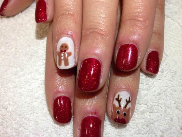 Images of Shellac Christmas Nail Art