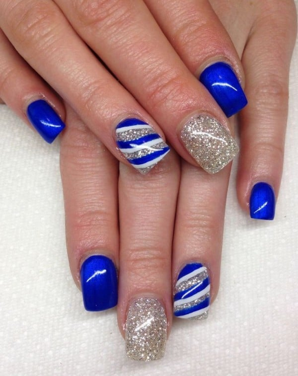 Latest Blue Acrylic Nail Art Pictures 2016