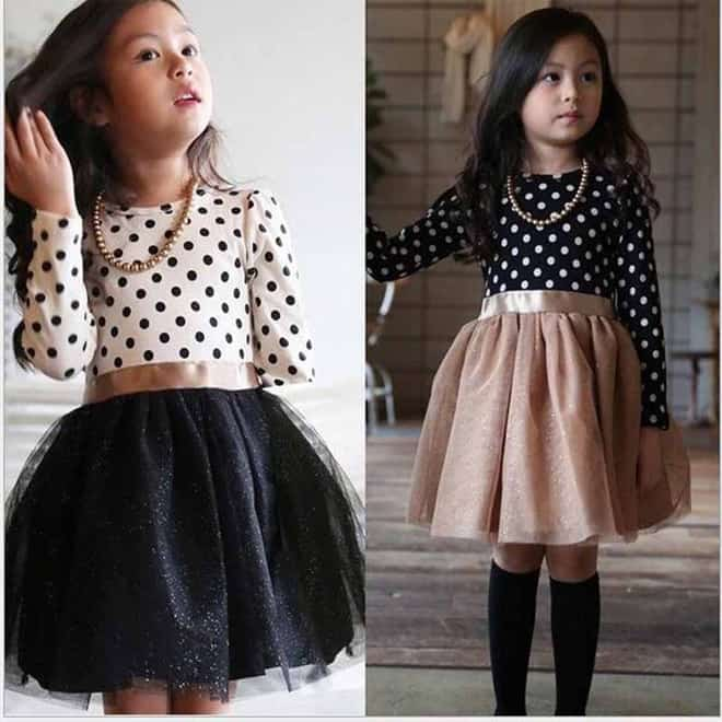 Latest Christmas Long Sleeve Dresses for Kids