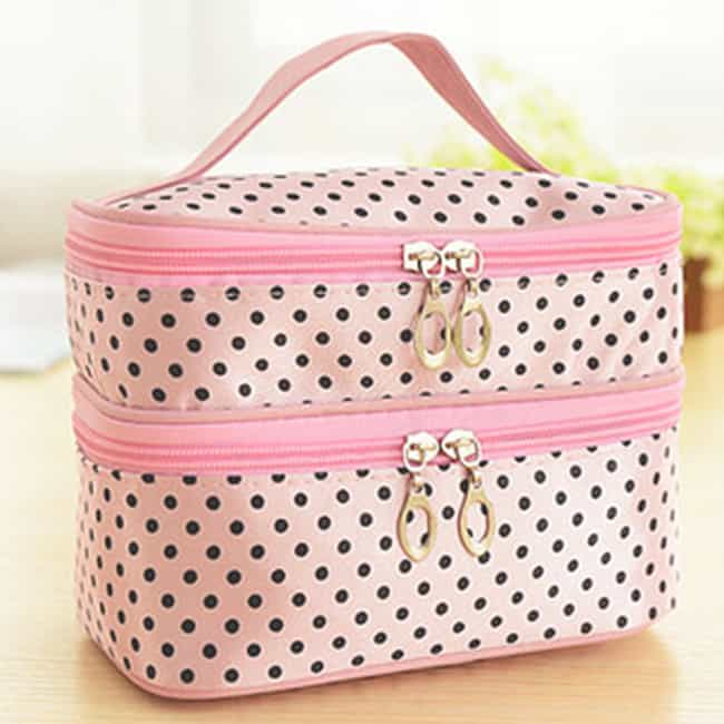 Latest Double Layer Makeup Bag for Women