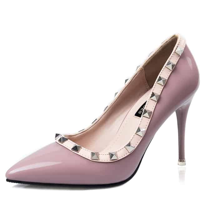 New Pumps Buckle Stiletto Nude Heels for Girls
