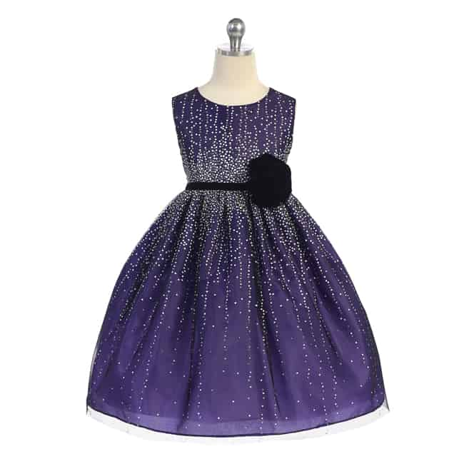 Purple Toddler Holiday Dresses Trend 2016-17